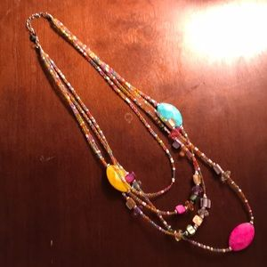 Jewelry - Beaded multiple strand necklace